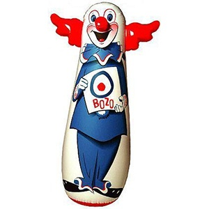 inflatable clown punching bag