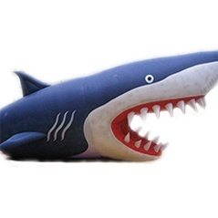 inflatable sharks