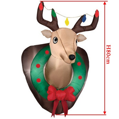 inflatable reindeer head