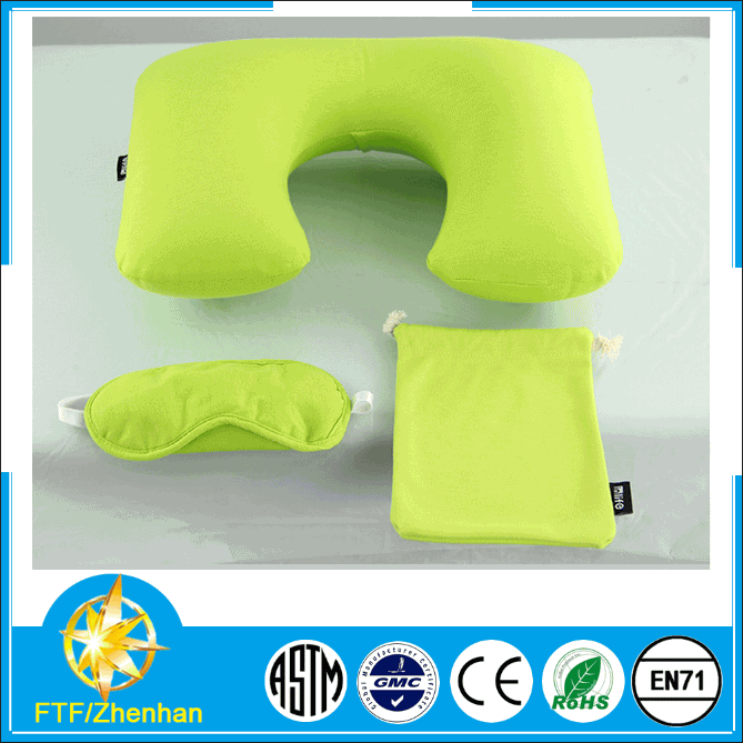 2015 portable and durable high quality beach tourism driving inflatable neck pillow