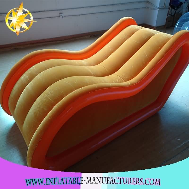 New Coming Comfortable Pvc Flocking inflatable sex Sofa chair
