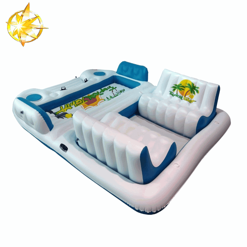 2015 high quality available safety cheap inflatable floating mat island
