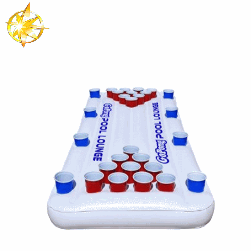 inflatable beer pong ice bar