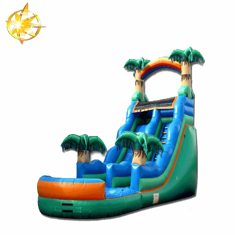 giant inflatable palm slides