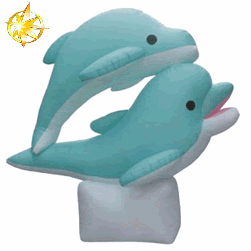cold air inflatable dolphin