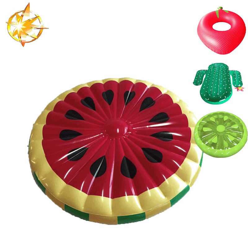 2018 hot sell Watermelon Inflatable Pool Float Lie Down Beach Toy