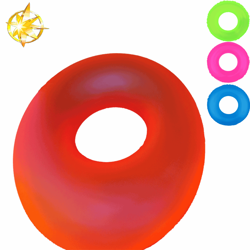2018 trending products High Quality Inflatable Colorful Pvc Swim Ring Fluorescence Swim Ring