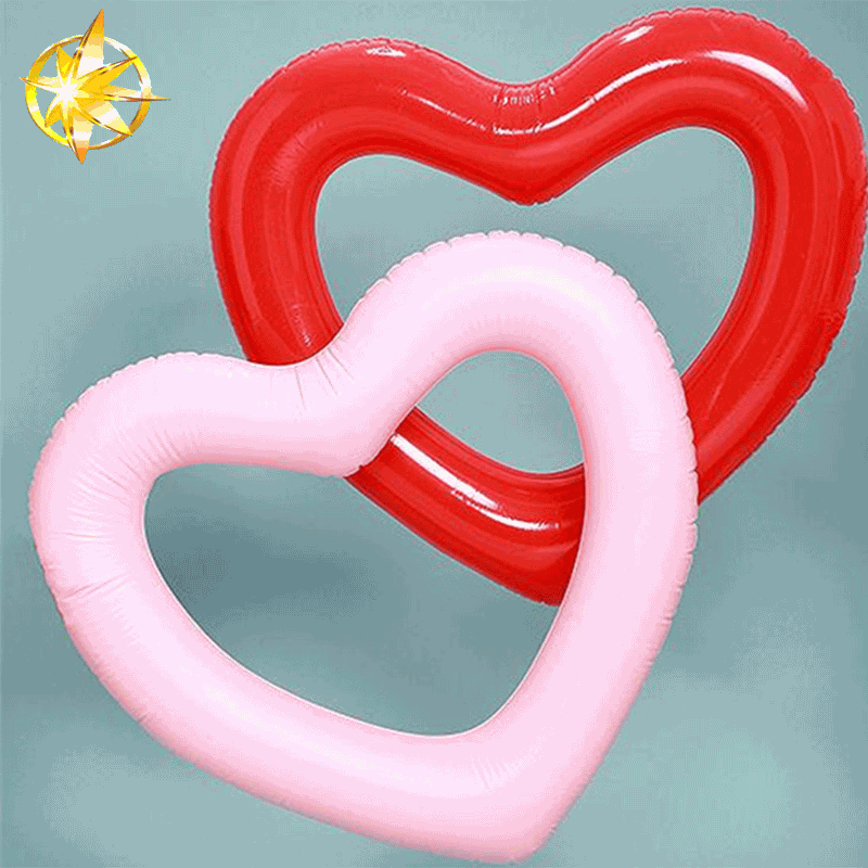 2018 Inflatable valentines day gifts Custom Heart Shape Swimming Ring