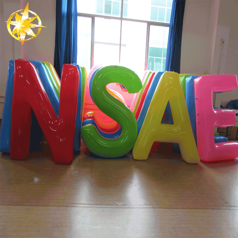 2018 Colorful Pvc Promotional Inflatable Logo Letters