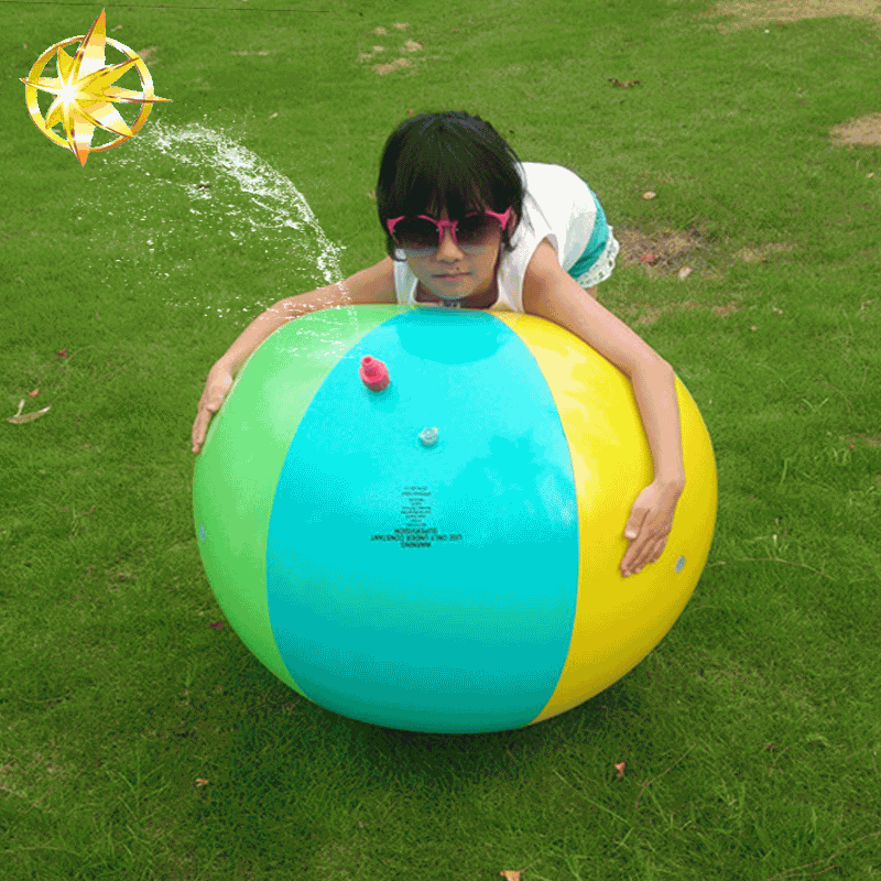2018 Summer hot wholesale PVC inflatable sprinkler beach ball