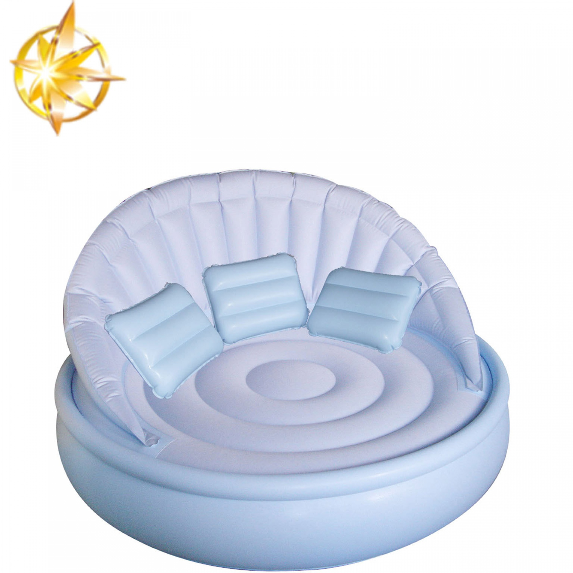 Customized popular PVC inflatable water sofa