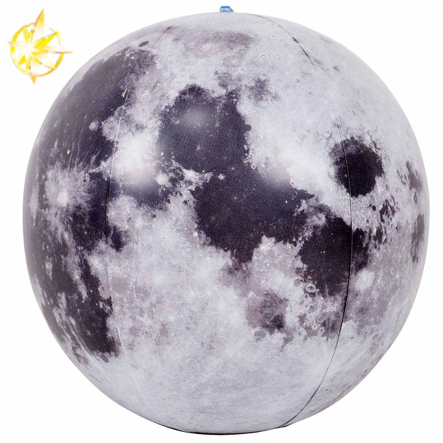 inflatable moon toy beach ball for  kids fun toy  party decoration