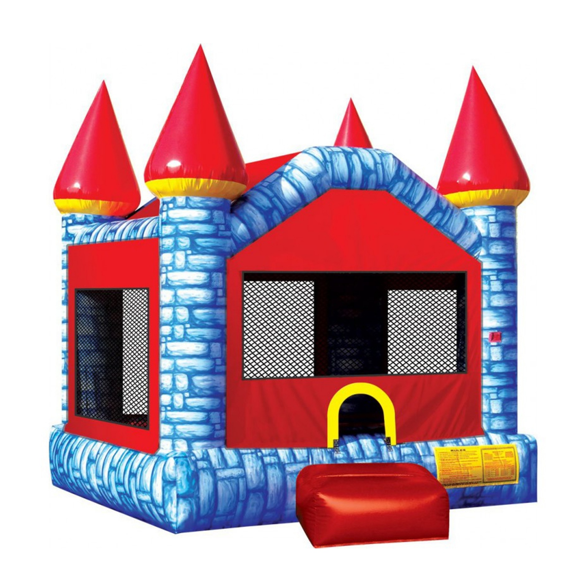 Fun kids sports game PVC inflatable trampoline inflatable castle