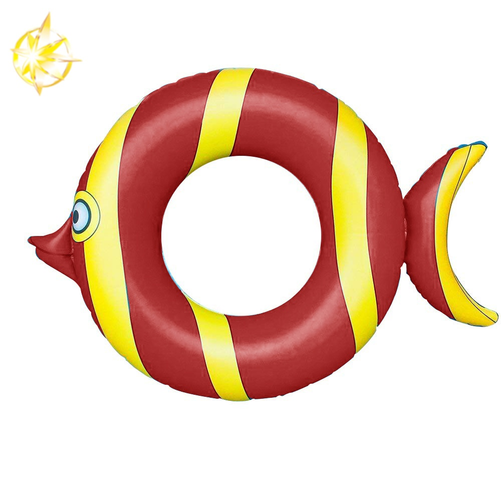 inflatable fish swimming ring red pool floats for kids