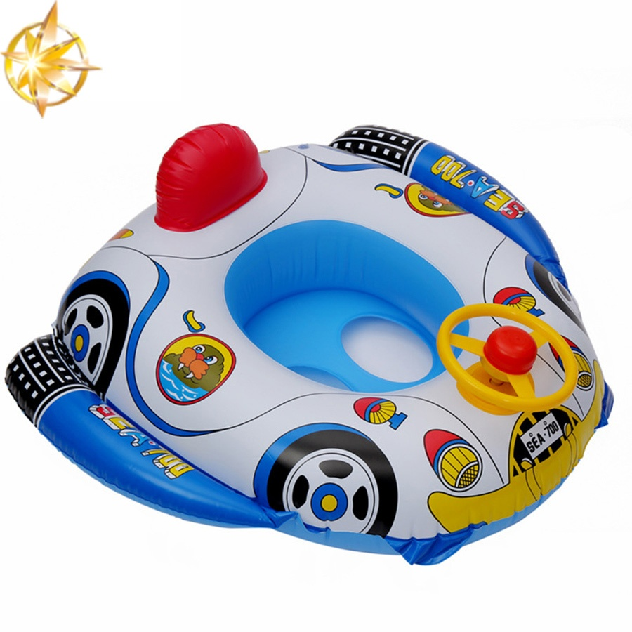 Summer pool accessories cartoon children's swimming ring steering wheel swimming ring